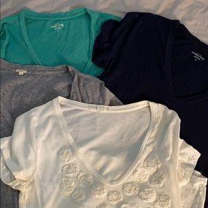4 jcrew vintage cotton tees